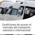 Condiciones de acceso al mercado transporte nacional e internacional (On line)