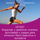 Organización y gestionar eventos, actividades y juegos para animación físico deportiva y recreativa (Online)