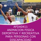 ANIMACION FISICO DEPORTIVA Y RECREATIVA PARA PERSONAS CON DISCAPACIDAD
