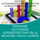 ACTIVIDADES ADMINISTRATIVAS EN LA RELACIÓN CON EL CLIENTE (Online)