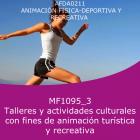 Talleres y actividades culturales con fines de animación turística y recreativa (Distancia)