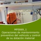 Operaciones de mantenimiento preventivo del vehiculo y control de su dotación material (Distancia)