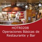 OPERACIONES BÁSICAS DE RESTAURANTE Y BAR (Distancia)