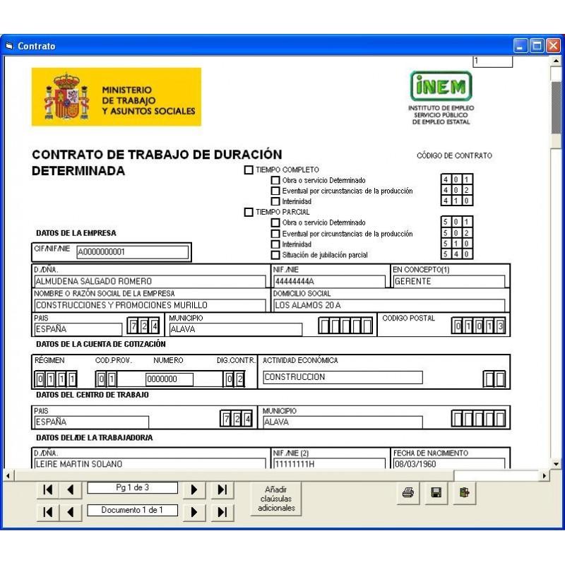 El contrato de trabajo online mlg formaci n for Contrato indefinido ejemplo